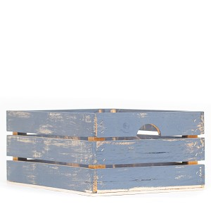 Handmade Large Rustic Wood Crate (Assorted Colors)