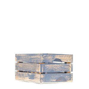 Handmade Small Rustic Wood Crate (Assorted Colors)